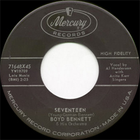 Boyd Bennett - Teenage Years / Hear Me Talking